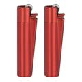 Öngyújtó CMPM107 tűzköves Clipper mini fém piros