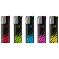 Jet Lighter 152029 in smart body colorful triangles