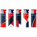 Turbo Design label Lighter 177240 red-blue elegant