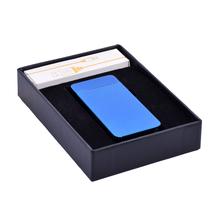 Öngyújtó 400214 fém sokkolós Atlanta USB kék