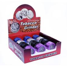 Dohányőrlő AF1318 mini fém szíves 3 szintes