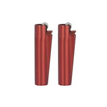 Öngyújtó CM107 tűzköves Clipper fém piros