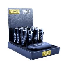 Öngyújtó CMPM014 tűzköves Clipper mini fém virágok