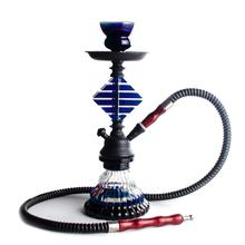 Shisha blue 1-Pipe 28 cm