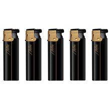 Turbo Rubberized Lighter 178034 Gold Black