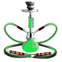 Shisha green 2-Pipe 26cm