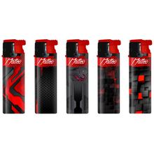 Öngyújtó műanyag 170042 vihar extrém kitapintható Matteo piros-fekete