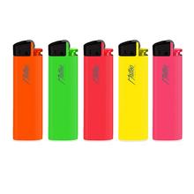 Premium Flint Design label Lighter 214004 Neon