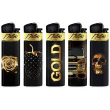 Öngyújtó 214035 tűzköves Matteo arany-fekete