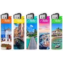 Premium Flint Design label Lighter 214036 travel time