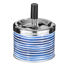 Ashtray Spin Blue stripes