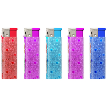 Electronic Glitter label Lighter 161026 glitter stars