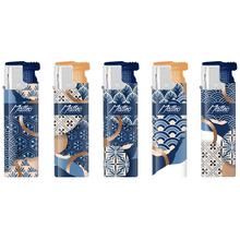 Turbo Rubberized Lighter 178144 blue-gold elegant