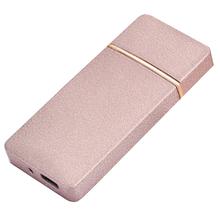 Öngyújtó 400203 fém ízzószálas Denver USB rose gold