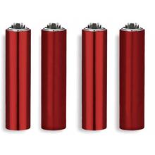 Öngyújtó fém FCP119H tűzköves Clipper piros