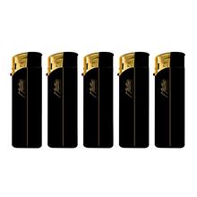 Öngyújtó 131051 elektromos Matteo gumírozott arany-fekete