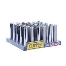 Öngyújtó BP020H tűzköves Clipper fém ezüst szögletes