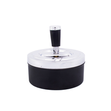 Ashtray Spin black 11 cm