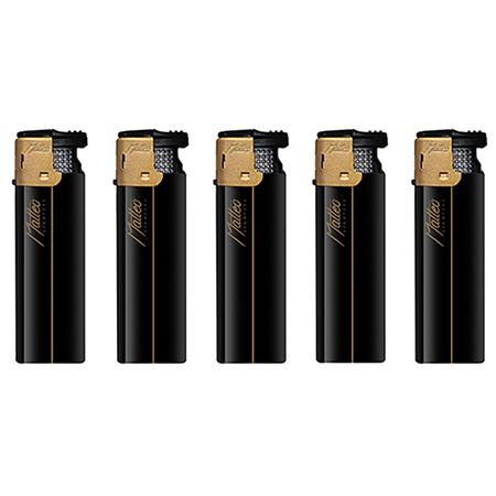 Turbo Rubberized Lighter 178034 Gold Black