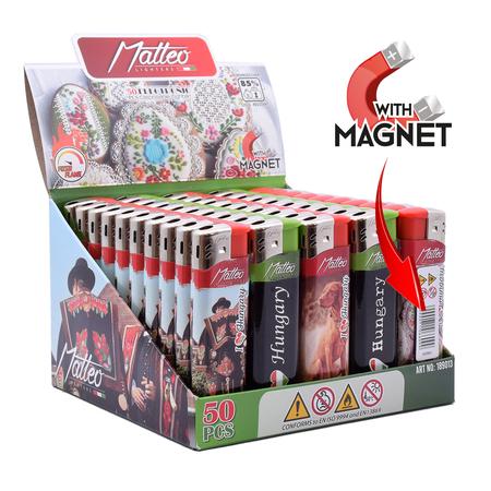 Öngyújtó 189013 elektromos prémium mágneses fix lángos Matteo Magyarország