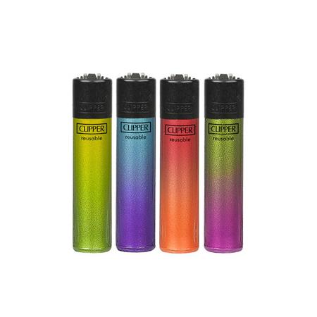 Öngyújtó műanyag CL2A229BCH tűzköves Clipper crystal színátmenetes I