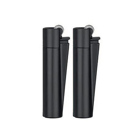 Öngyújtó fém CMPM010 tűzköves mini Clipper fekete