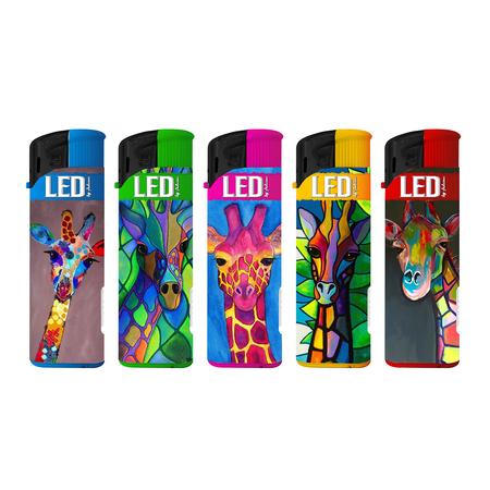 Electronic LED Lighter 146069 giraffe