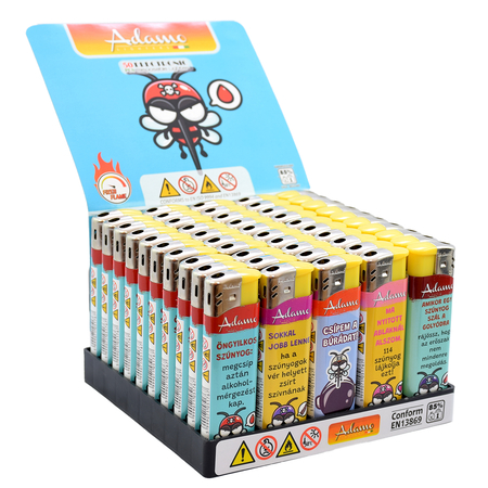 Electronic Design label Lighter 181233 with Fix funny mosquitos