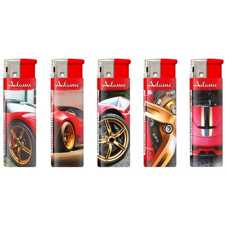 Electronic Design label Lighter 188658 red gold cars