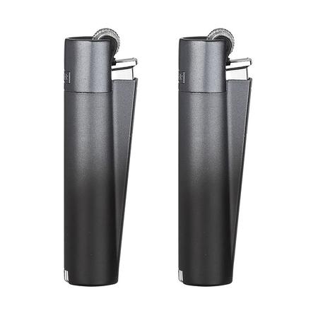 Öngyújtó fém CM0S055 tűzköves Clipper fekete színátmenetes