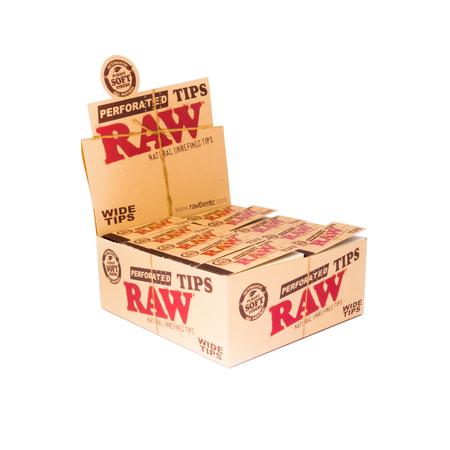 Cigarettafilter 7755 RAW Perforated Wide Tips csiga-tip